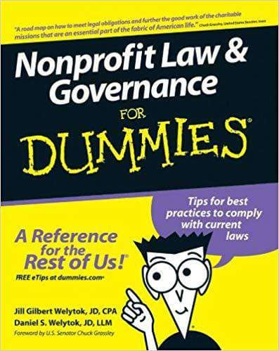 Download Nonprofit Law & Governance For Dummies (E-Book), Urban Books, Black History and more at United Black Books! www.UnitedBlackBooks.org