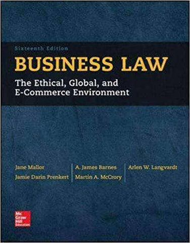 Download Business Law, 15th Ed. (E-Textbook), Urban Books, Black History and more at United Black Books! www.UnitedBlackBooks.org