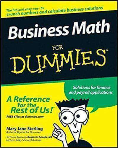 Download Business Math For Dummies (E-Book), Urban Books, Black History and more at United Black Books! www.UnitedBlackBooks.org