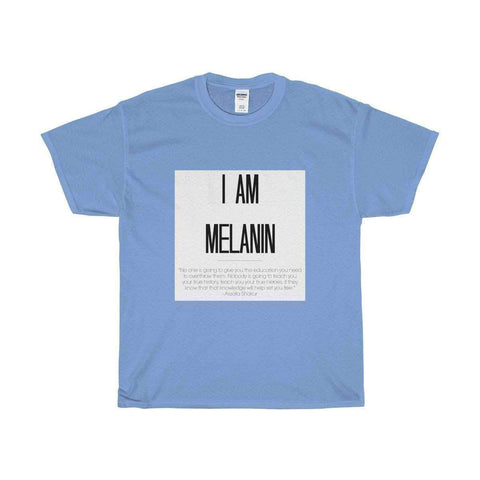 "Download ""I Am Melanin"" - Assata Shakur - Unisex Heavy Cotton Tee, Urban Books, Black History and more at United Black Books! www.UnitedBlackBooks.org"
