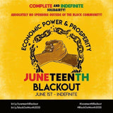 #JuneteenthBlackout #BlackOutMonth (July 1st, 2020 - Indefinite) - Copy or Download Banner and Repost!