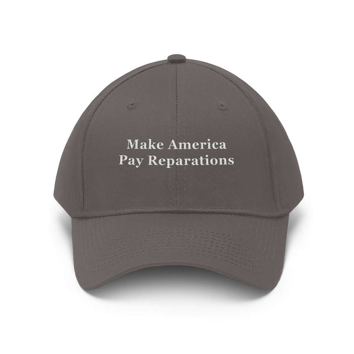 Download Make America Pay Reparations Hat - (Unisex, Twill Fabric), Urban Books, Black History and more at United Black Books! www.UnitedBlackBooks.org