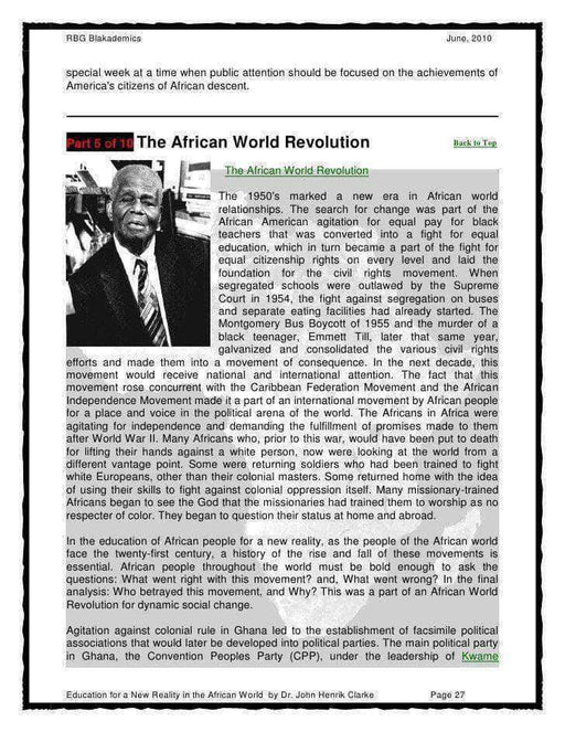 Download Education For A New Reality by John Henrik Clarke, Urban Books, Black History and more at United Black Books! www.UnitedBlackBooks.org