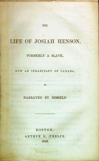 Download The Life of Josiah Henson, Formerly a Slave,  Now an Inhabitant of Canada,  as Narrated by Himself, Urban Books, Black History and more at United Black Books! www.UnitedBlackBooks.org