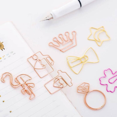1pc Cute Rose Gold Bookmarks
