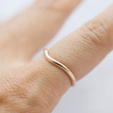 Soft chevron ring - Gold
