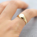You are perfect dainty signet Ring - Gold