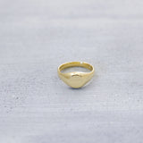 You are perfect dainty signet Ring - Silver