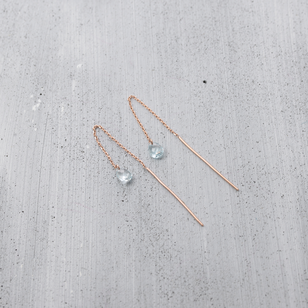 Angel's tear chain thread Earrings - HerBanana