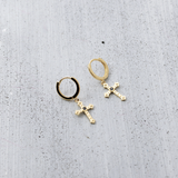 Cross heritage sleeper Earrings - HerBanana