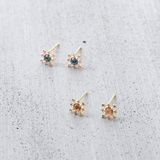 Snow flower stud Earrings - HerBanana