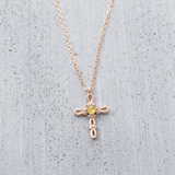 Rosa cross Necklace