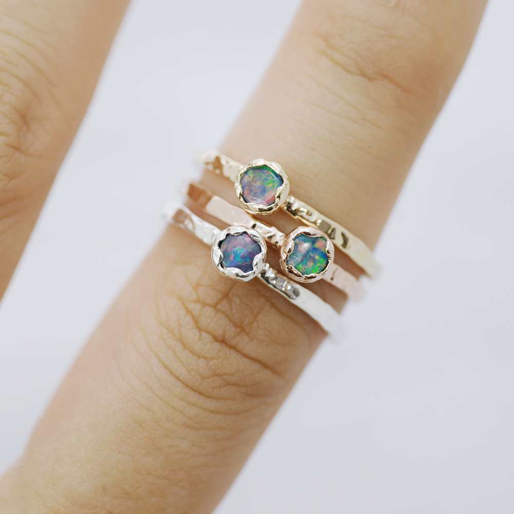 Opal mud Ring - HerBanana