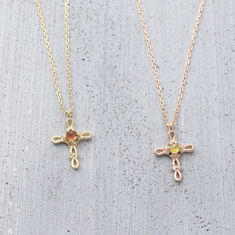 her banana, rosa cross necklace, cross pendant, cross necklace, 14k gold, gold necklace, garnet, yellow dia, diamond necklace, cross pendant necklace
