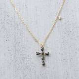 Black cross Necklace - HerBanana