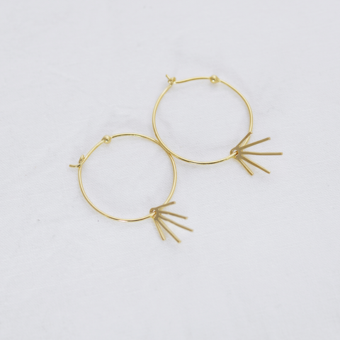Sunshine rays hoop Earrings - HerBanana