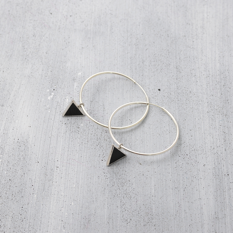 City triangle hoop Earrings - HerBanana