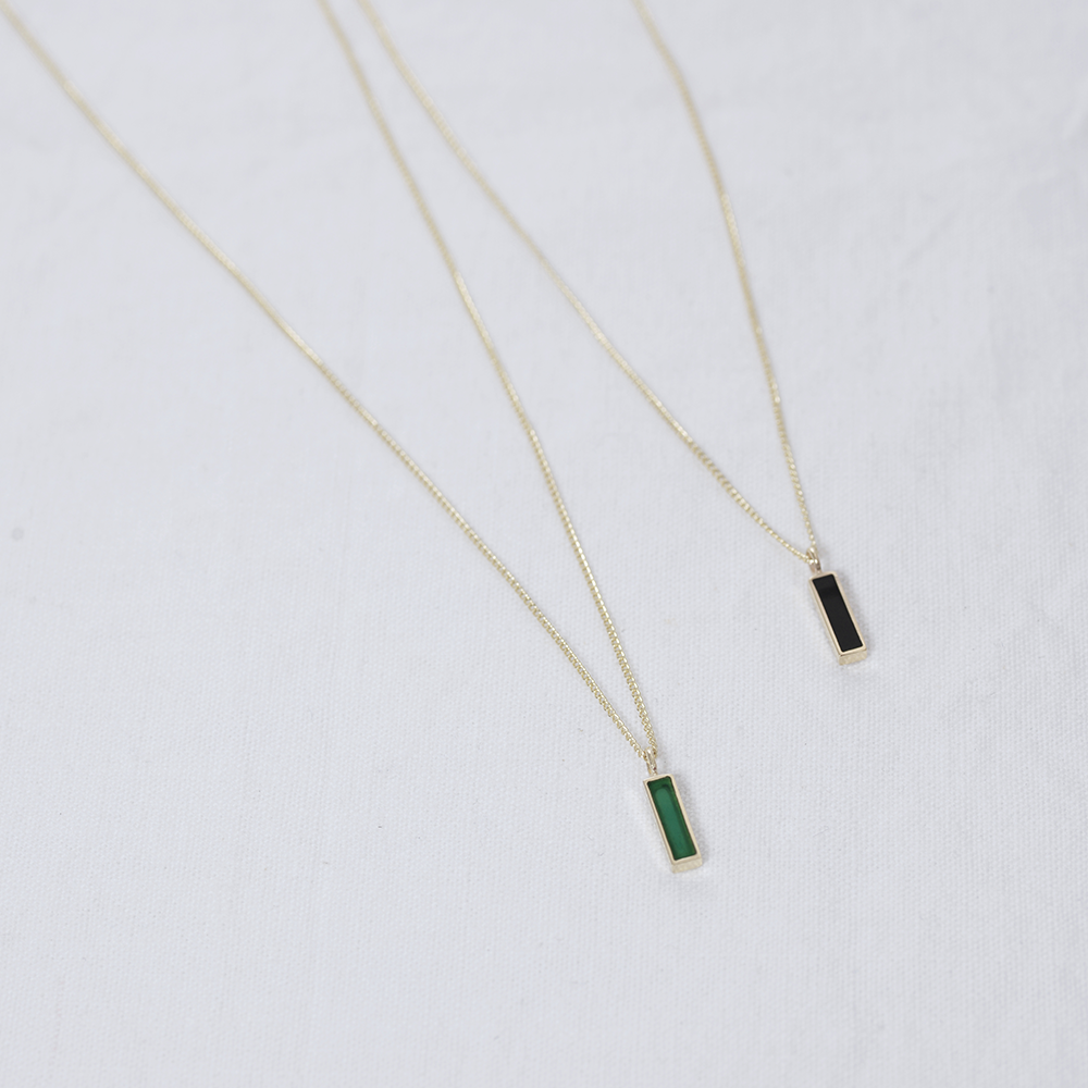 Rectangle city Necklace - HerBanana