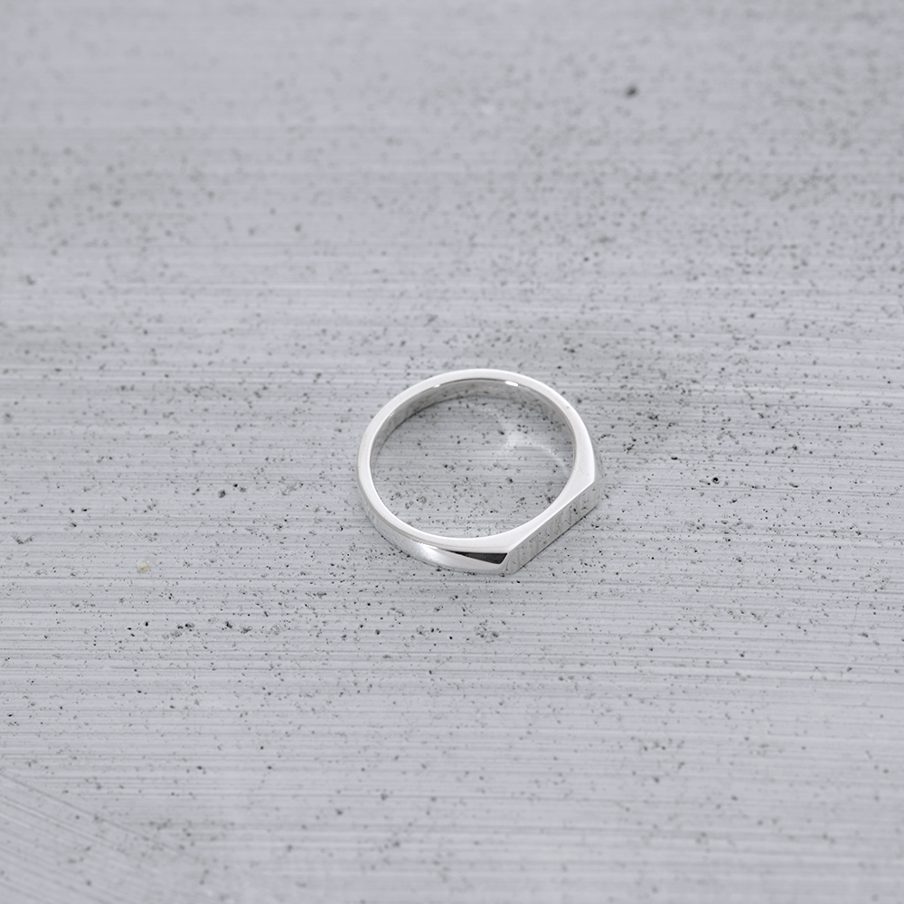Flat signet Ring - HerBanana