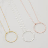 Dainty circle Necklace - HerBanana