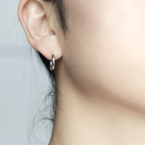 Small routine hoop Earrings - HerBanana