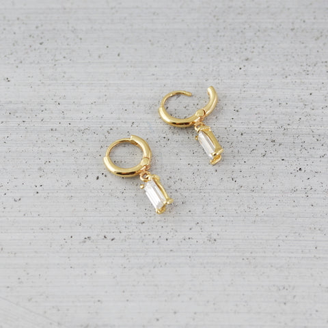 Allure baguette sleeper Earring - 14K Gold