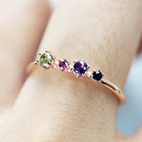 Quartet stone ring - HerBanana
