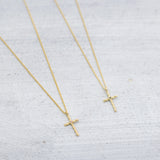 Twisted cross Necklace - Gold