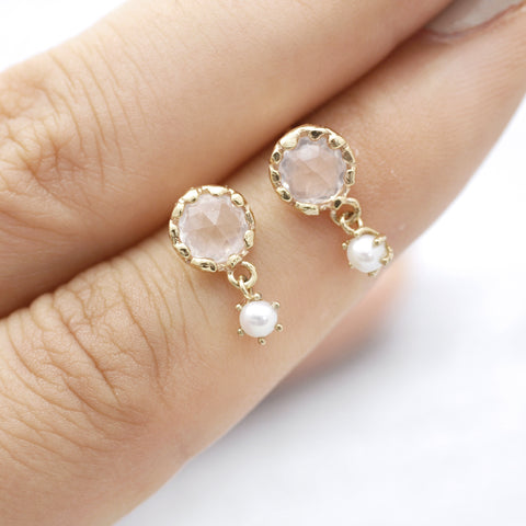 Rose fever pearl Earrings - HerBanana