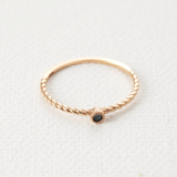Blue diamond twirled band Ring - HerBanana