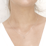 Minimal letter Necklace - Silver - HerBanana