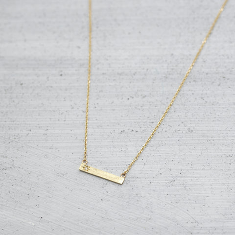 Diamond skin bar Necklace - HerBanana