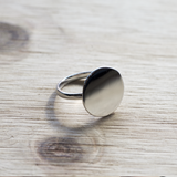 Shiny full moon Ring - HerBanana