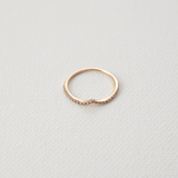 Curved diamond Ring - HerBanana