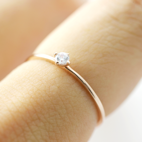 Promise solitaire Diamond Ring - HerBanana