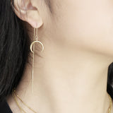 Crescent moon thread earrings - HerBanana