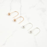Half hoop ball Earrings - HerBanana