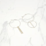 Minimal hoop Earrings - HerBanana