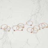 Birth stone dainty Ring - HerBanana
