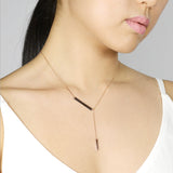 Side bar Y Necklace - HerBanana
