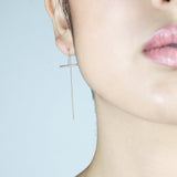 Line drop earrings - HerBanana
