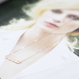 Tiny wavy bar Necklace - HerBanana