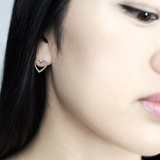 Sweetheart stud Earrings - HerBanana