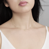 Dainty crystal necklace - HerBanana