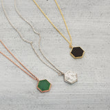 Hexagon city Necklace - HerBanana
