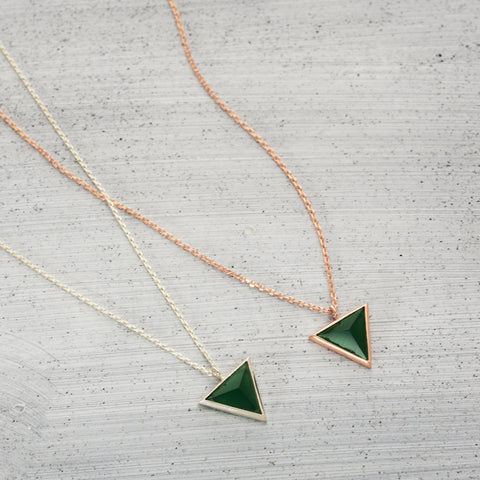 Triangle city onyx Necklace - HerBanana