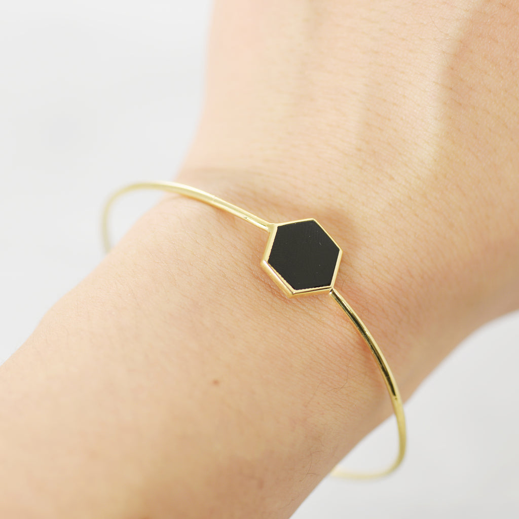 Onyx city Bangle - HerBanana
