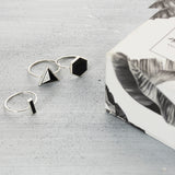 Hexagon city onyx Ring - HerBanana