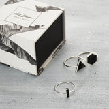 Triangle city onyx Ring - HerBanana