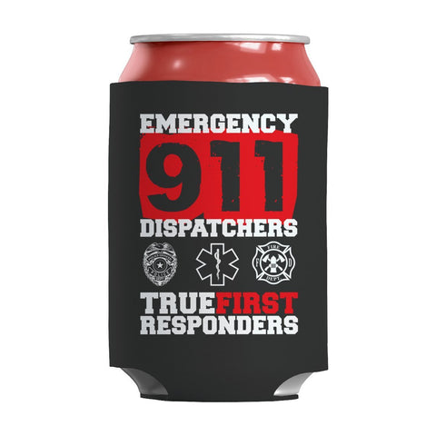 Limited Edition - Emergency 911 Dispatchers True First Responders-Can Wraps-slingly-Can Wraps-Black-Deal Digs